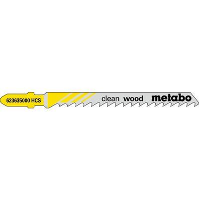 Пилка для лобзика Metabo T101D по дереву 5 штук (623635000)