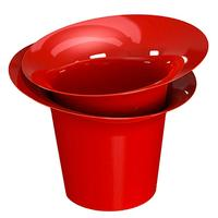 Горшок для цветов Модерн красный 1 л