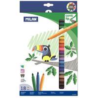 Фломастеры Milan Cone-Tipped 18 цветов с коническим стержнем