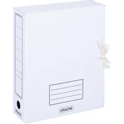 Короб архивный на 2-х завязках Attache А4 75 мм картон до 750 листов