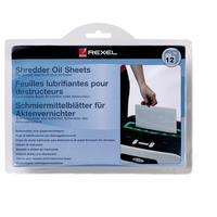 Маслянные салфетки (листы) для уничтожителей документов (шредеров) Rexel (12 штук в упаковке)