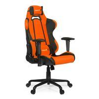 Кресло игровое Arozzi Torretta оранжевое/черное (экокожа/ткань/пластик/металл)