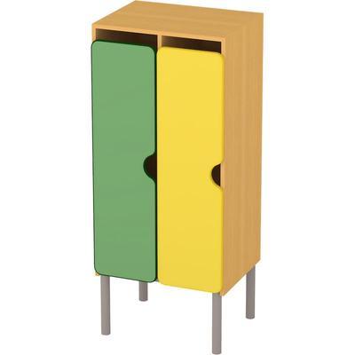 Шкаф для одежды детский М-233-2 двухсекционный (разноцветный, 550x440x1300 мм)