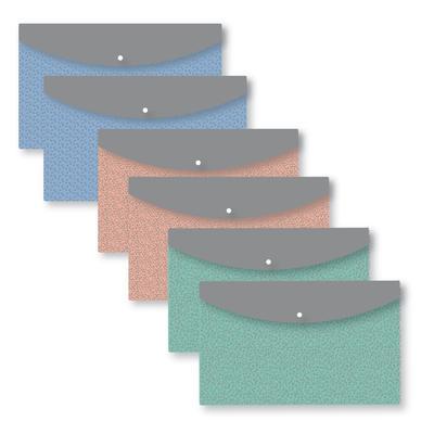 Папка-конверт на кнопке Attache Attache Fleur A4 180 мкм (6 штук в упаковке)