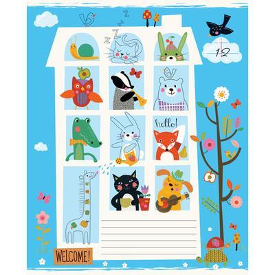 Тетрадь школьная Academy Style Город животных А5 12 листов в линейку на скрепке (обложка в ассортименте)