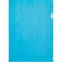 Папка-уголок Attache Economy A4 пластиковая 100 мкм синяя (10 штук в упаковке)