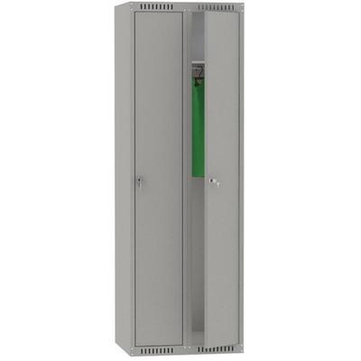 Шкаф для одежды металлический ШМС-281(800) 2 отделения