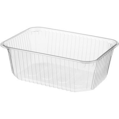 Одноразовый пластиковый контейнер Юпласт для вторых блюд 1000 мл прозрачный (500 штук в упаковке)