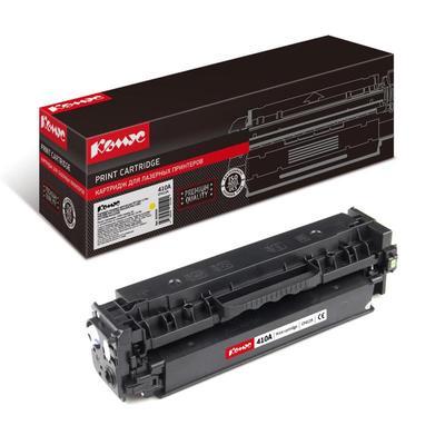 Уценка. Картридж лазерный Комус 410A CF412A для HP желтый совместимый. уц_тех