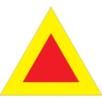 Знак безопасности Тихоходное транспортное средство (350 мм, световозвращающий металл)