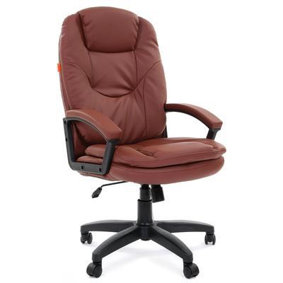 Кресло для руководителя Chairman 668 LT коричневое (экокожа, пластик)