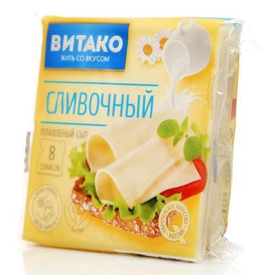 Сыр плавленый Сливочный ВИТАК 130 г в нарезке Рег