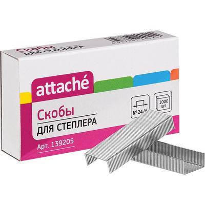 Скобы для степлера N24/6 Attache оцинкованные (1000 штук в упаковке)