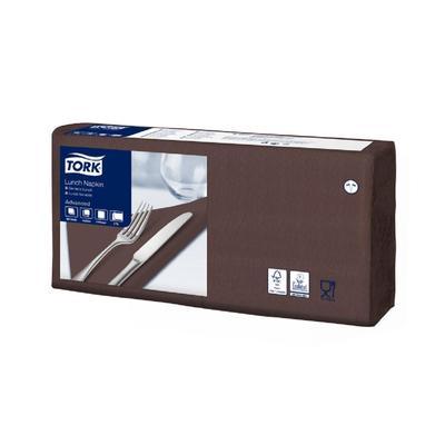 Салфетки бумажные Tork 33х33 шоколад  Advanced 477208