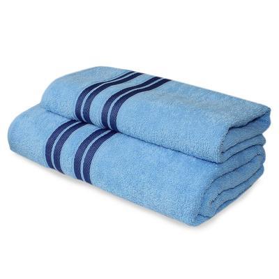 Набор полотенец махровых Лиман 50x90 см 1 штука 70x140 см 1 штука 360 г/кв.м синие