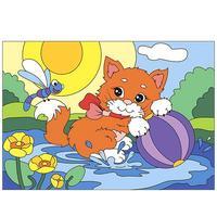 Картина по номерам Lori Радостный котенок