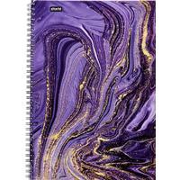 Бизнес-тетрадь Attache Selection Fluid A4 96 листов фиолетовая в клетку на спирали (203х290 мм)