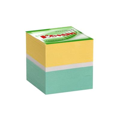 Блок для записей Комус 90x90x90 мм разноцветный (плотность 80 г/кв.м)