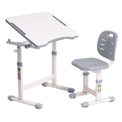 Комплект детской мебели Omino Grey парта со стулом регулируемые (белый/серый)