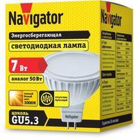 Лампа светодиодная Navigator 7 Вт GU10 рефлектор 3000 К теплый белый свет