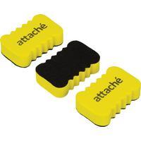 Губка-стиратель для маркерных досок Attache Economy (55x35x15 мм, 3 штуки в упаковке)