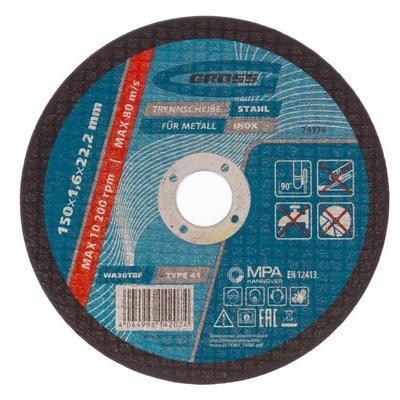 Круг отрезной по металлу Gross 150х1.6 мм (74376)