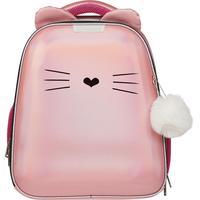 Ранец ортопедический №1 School Kitty (экокожа, розовая спинка)