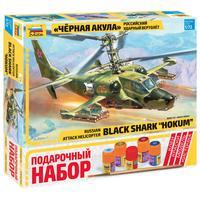 Сборная модель Звезда Российский ударный вертолет Черная акула