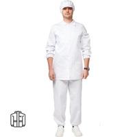Куртка для пищевого производства мужская у17-КУ белая (размер 44-46 рост 170-176)