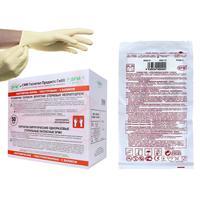 Перчатки медицинские хирургические латексные SFM стерильные неопудренные размер S (100 штук в упаковке)