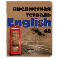 Тетрадь предметная по английскому языку Альт Крафт А5 48 листов