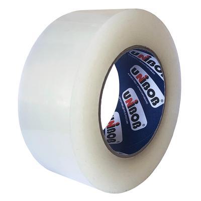 Клейкая лента упаковочная Unibob прозрачная 48 мм x 198 м толщина 45 мкм