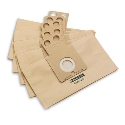 Бумажные фильтр-мешки Karcher 6.904-257.0 (5 штук в упаковке)