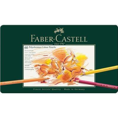 Карандаши цветные Faber-Castell Polychromos 60 цветов в металлической упаковке