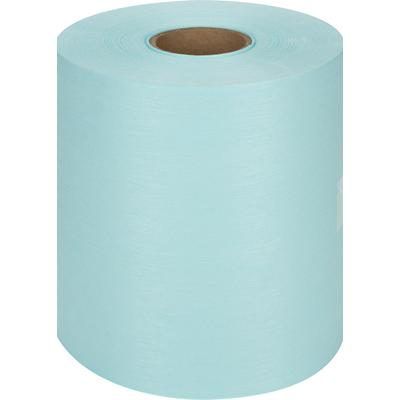 Нетканый протирочный материал безворсовый Sontara W1 бирюзовый (400 листов в рулоне)