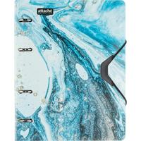Бизнес-тетрадь Attache Selection Fluid A5 120 листов серая/голубая в клетку на кольцах (185x218 мм)