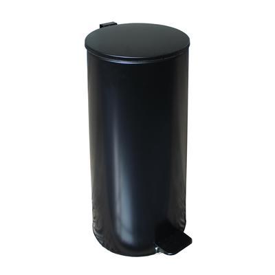 Ведро для мусора с педалью 30 л оцинкованная сталь черное (25х60 см)