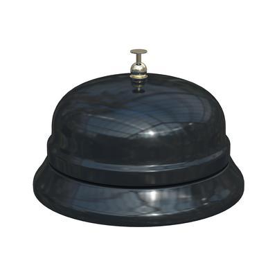 Звонок настольный диаметр 85 мм черный