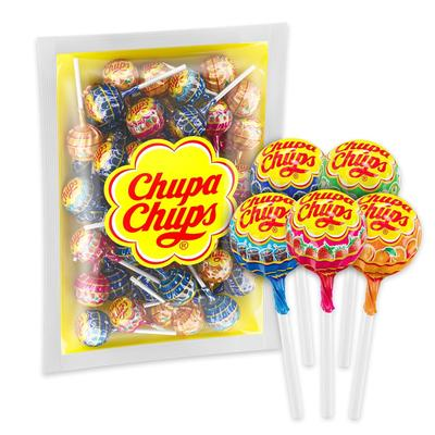 Карамель на палочке Chupa Chups ассорти (100 штук в упаковке)