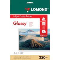 Фотобумага для цветной струйной печати Lomond односторонняя (глянцевая, А4, 230 г/кв.м, 50 листов, артикул производителя 0102022)