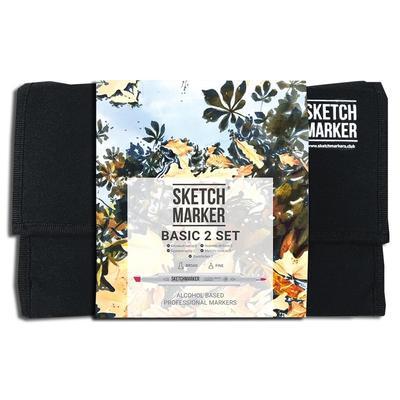 Набор маркеров Sketchmarker Basic 2 24 цвета