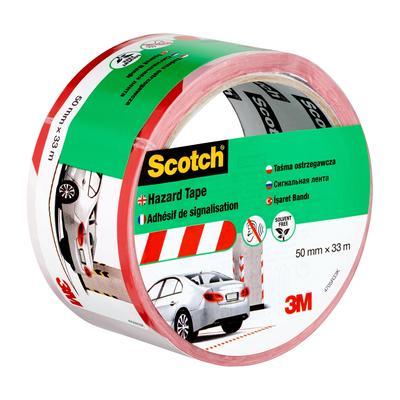 Лента клейкая для разметки 3М Scotch белый/красный 50 мм x 33 м