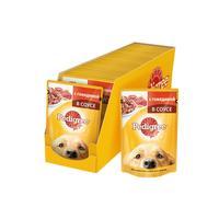 Корм для собак влажный Pedigree С говядиной в соусе 100 г (24 штуки в упаковке)