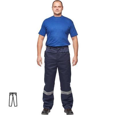 Брюки рабочие летние мужские л03-БР с СОП синие (размер 60-62 рост 158-164)