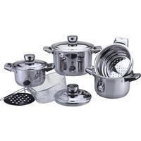 Набор посуды Bekker De Luxe нержавеющая сталь 9 предметов (BK-2865)