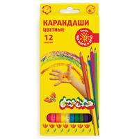 Карандаши цветные Каляка-Маляка 12 цветов шестигранные