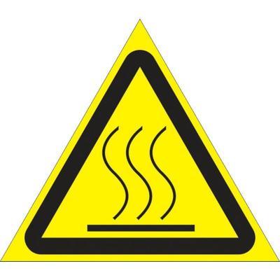 Знак безопасности Осторожно. Горячая поверхность (50 мм, пленка, 10 штук в упаковке)