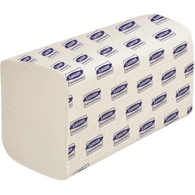 Полотенца бумажные листовые Luscan Professional V-сложения 2-слойные 20 пачек по 200 листов (арт.697599)