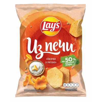 Чипсы картофельные Lay's из печи лисички в сметане 85 г