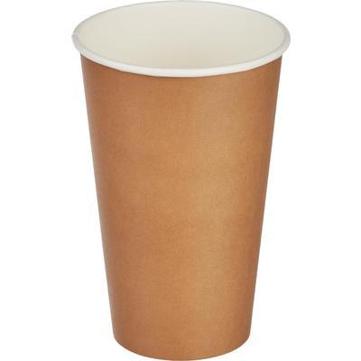 Стакан одноразовый бумажный 400 мл коричневый 50 штук в упаковке Комус Стандарт